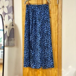 Banana Republic Skirts - Banana Republic Leopard Maxi Blue Leopard Skirt